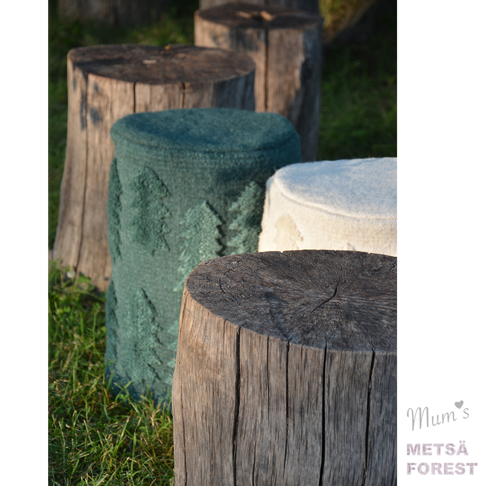 FOREST METSA green ottoman teresa moorhouse finnish design
