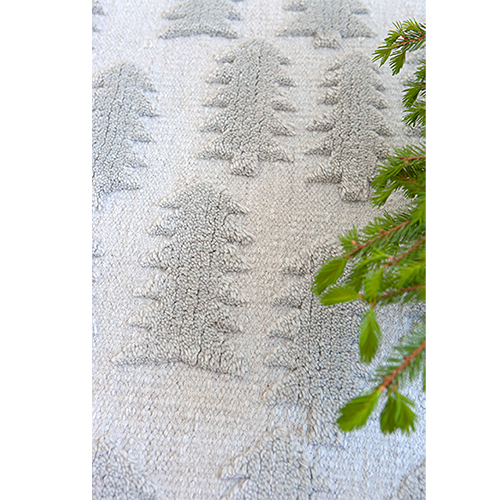Light grey Forest rug