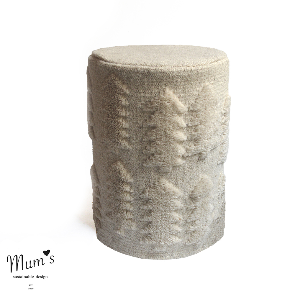 FOREST ottoman natural white 45x45 interior rahi web