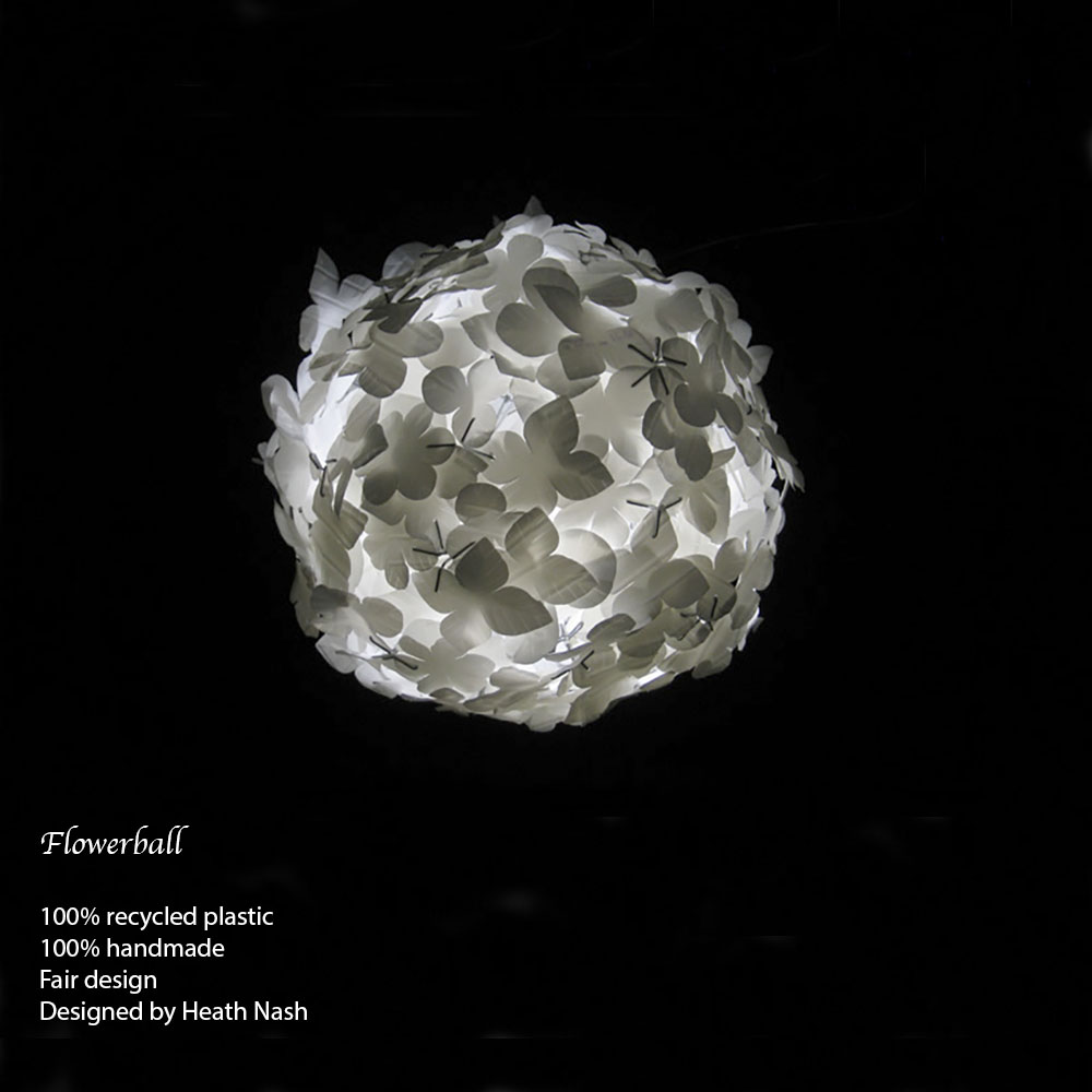 Flowerball white, Other People's rubbish by Heath Nash