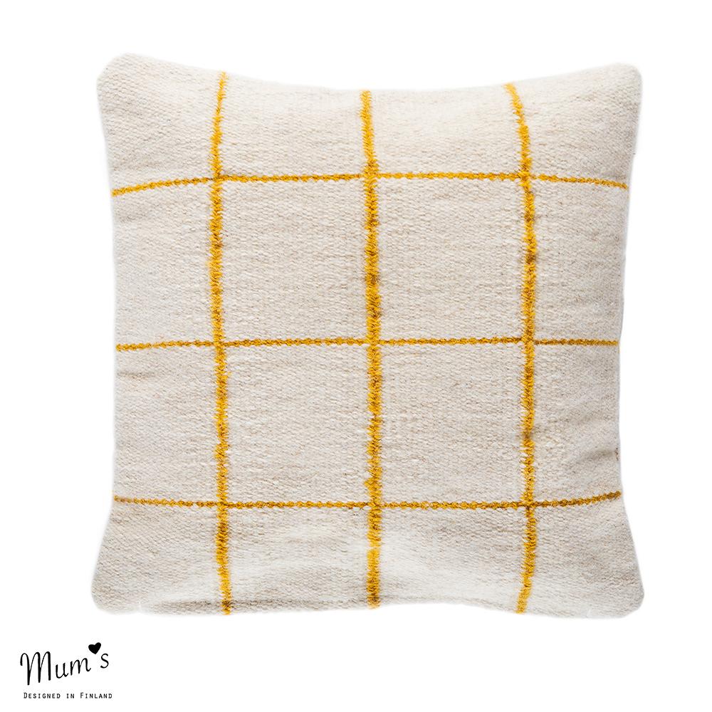 Ikikorpi cushion yellow on natural