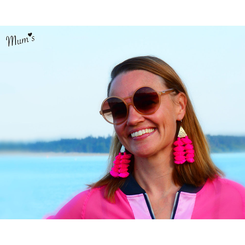 Mum's BOMBOM earrings pink