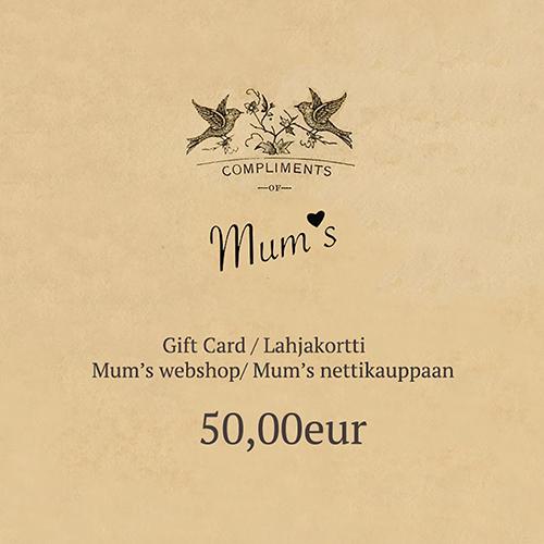 50 eur eLahjakortti/ eGift Card