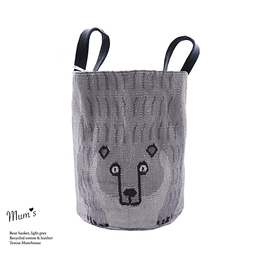 Bear Basket light grey