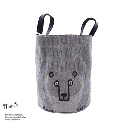 Bear Basket light grey